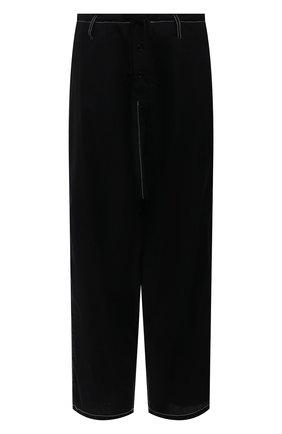 Женские хлопковые брюки Y`S черного цвета, арт. YD-P73-059 | Фото 1