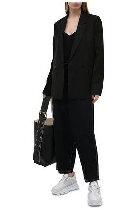Женские хлопковые брюки Y`S черного цвета, арт. YD-P73-059 | Фото 2