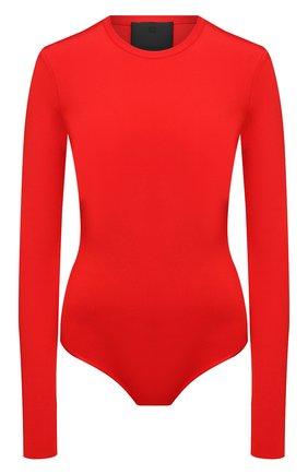 Женское боди из вискозы GIVENCHY красного цвета, арт. BW60TH4Z93 | Фото 1