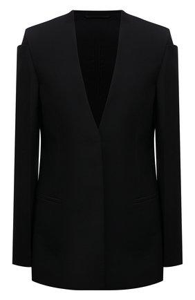 Женский шерстяной жакет GIVENCHY черного цвета, арт. BW30CU13QB | Фото 1