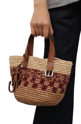 Женский сумка-тоут belt mini JW ANDERSON бежевого цвета, арт. HB0325 PG0542 | Фото 2
