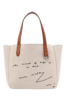Женский сумка-тоут belt small JW ANDERSON бежевого цвета, арт. HB0381 FA0064 | Фото 1