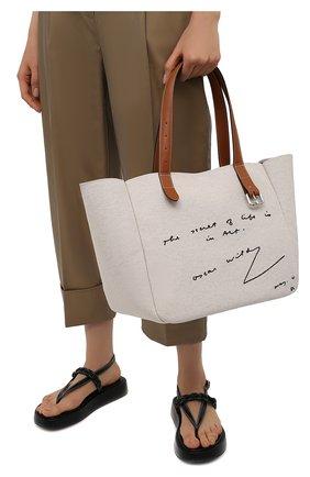Женский сумка-тоут belt small JW ANDERSON бежевого цвета, арт. HB0381 FA0064 | Фото 2