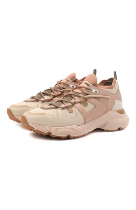 Женские комбинированные кроссовки TOD'S светло-розового цвета, арт. XXW54C0EN00Q64 | Фото 1