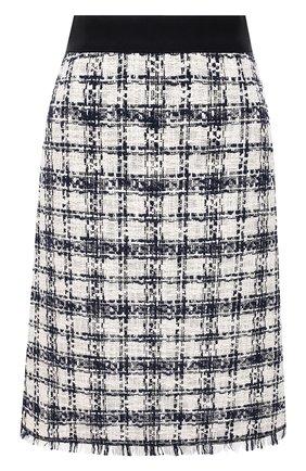 Женская хлопковая юбка ESCADA SPORT черно-белого цвета, арт. 5034810 | Фото 1
