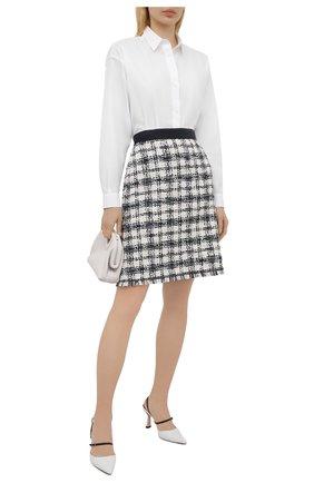 Женская хлопковая юбка ESCADA SPORT черно-белого цвета, арт. 5034810 | Фото 2