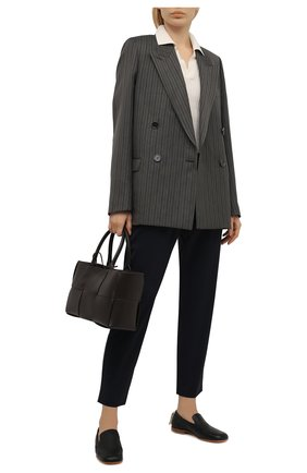 Женские укороченные шерстяные брюки с эластичным поясом ESCADA SPORT темно-синего цвета, арт. 5025772 | Фото 2
