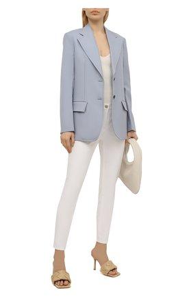 Женские укороченные брюки прямого кроя ESCADA белого цвета, арт. 5024889 | Фото 2