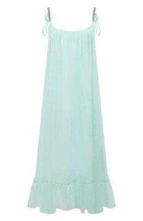 Женское хлопковое платье STELLA MCCARTNEY голубого цвета, арт. S7AF11240 | Фото 1