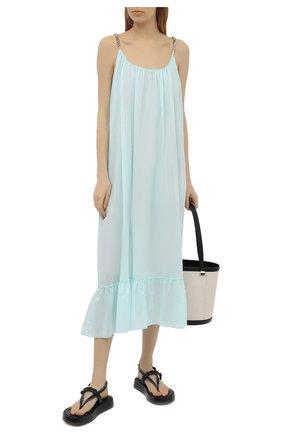 Женское хлопковое платье STELLA MCCARTNEY голубого цвета, арт. S7AF11240 | Фото 2