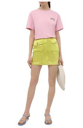 Женская футболка GANNI розового цвета, арт. T2775 | Фото 2