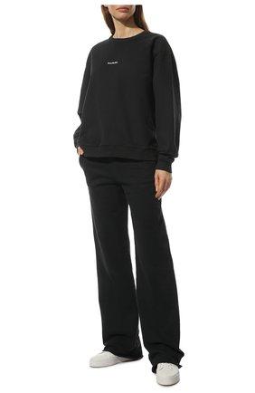 Женские хлопковые брюки ACNE STUDIOS черного цвета, арт. AK0364 | Фото 2