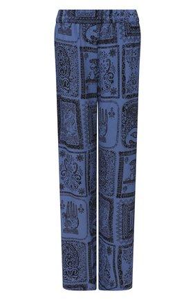 Женские брюки из вискозы ACNE STUDIOS голубого цвета, арт. AK0354 | Фото 1