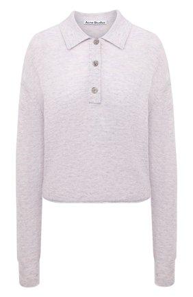 Женский шерстяной пуловер ACNE STUDIOS сиреневого цвета, арт. A60247 | Фото 1