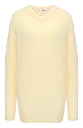 Женский пуловер ACNE STUDIOS желтого цвета, арт. A60246 | Фото 1