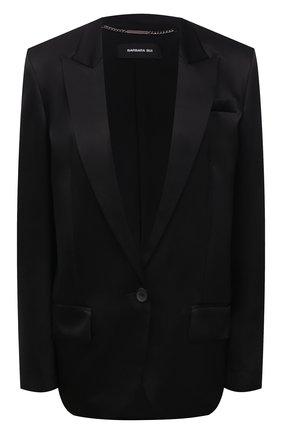 Женский шелковый жакет BARBARA BUI черного цвета, арт. X1203XCA | Фото 1