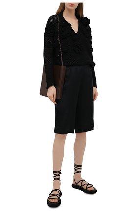 Женские шелковые шорты BARBARA BUI черного цвета, арт. X1651XCA | Фото 2