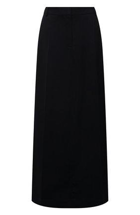 Женская шерстяная юбка VICTORIA BECKHAM темно-синего цвета, арт. 1221WSK002726A | Фото 1