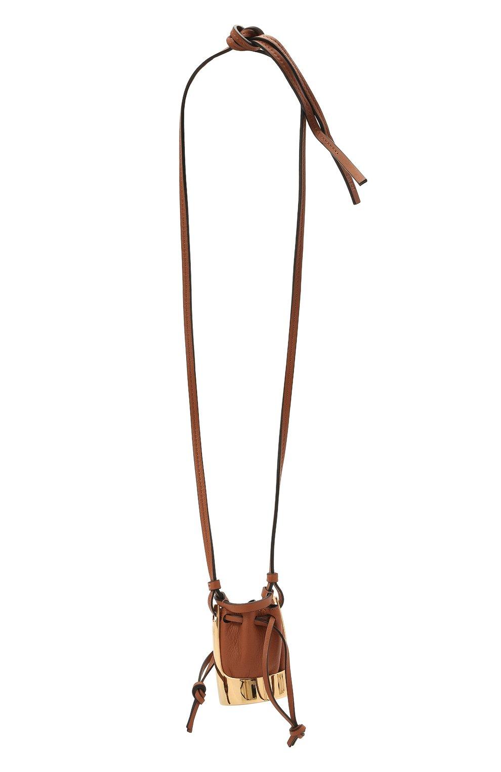 Женская кулон на шнурке balloon LOEWE коричневого цвета, арт. J710E19X01 | Фото 1