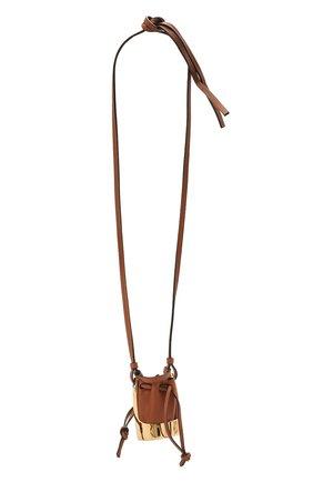 Женская кулон на шнурке balloon LOEWE коричневого цвета, арт. J710E19X01 | Фото 1 (Материал: Кожа)