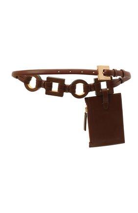 Женский кожаный ремень JACQUEMUS коричневого цвета, арт. 211AC17/300800   Фото 2