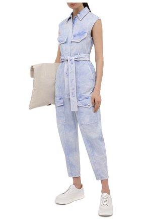 Женский джинсовый комбинезон STELLA MCCARTNEY голубого цвета, арт. 603119/S0H37 | Фото 2