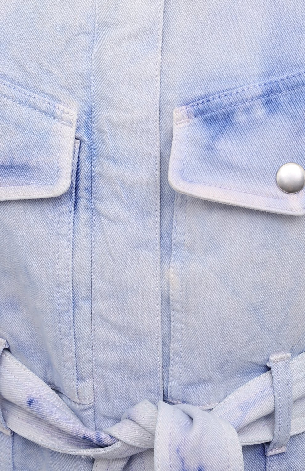 Женский джинсовый комбинезон STELLA MCCARTNEY голубого цвета, арт. 603119/S0H37   Фото 5