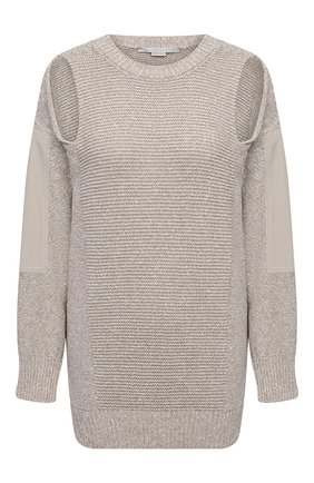 Женский хлопковый свитер STELLA MCCARTNEY бежевого цвета, арт. 603069/S2250 | Фото 1