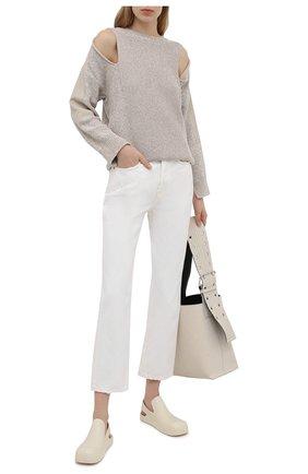 Женский хлопковый свитер STELLA MCCARTNEY бежевого цвета, арт. 603069/S2250 | Фото 2