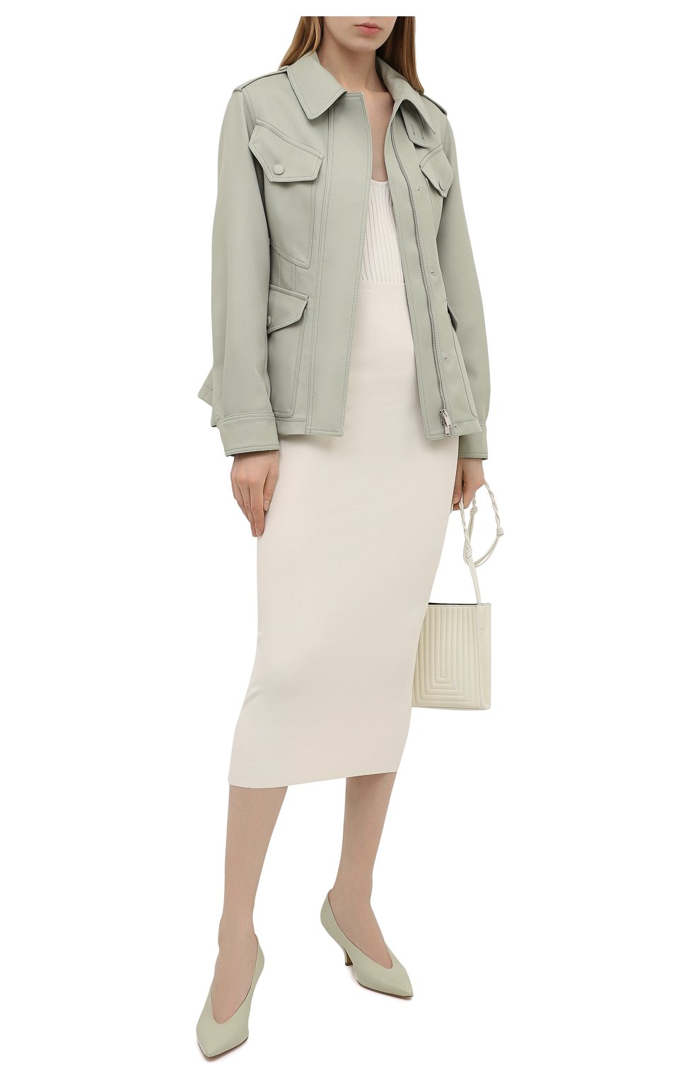 Женская куртка STELLA MCCARTNEY зеленого цвета, арт. 603020/S0A36 | Фото 2