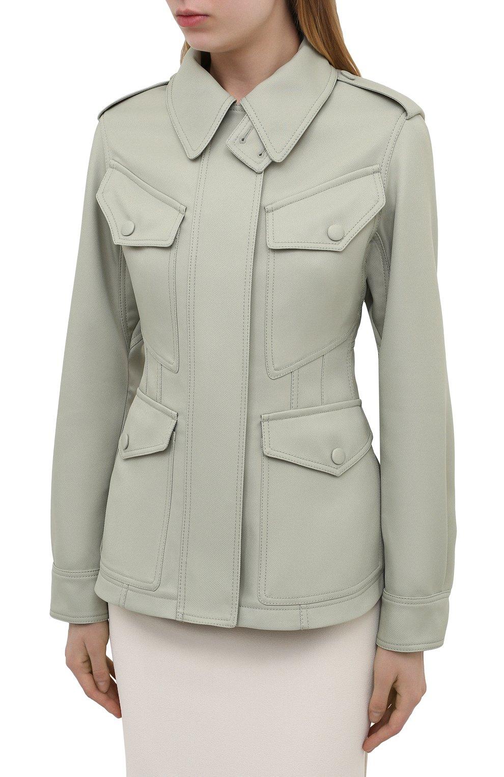 Женская куртка STELLA MCCARTNEY зеленого цвета, арт. 603020/S0A36 | Фото 3