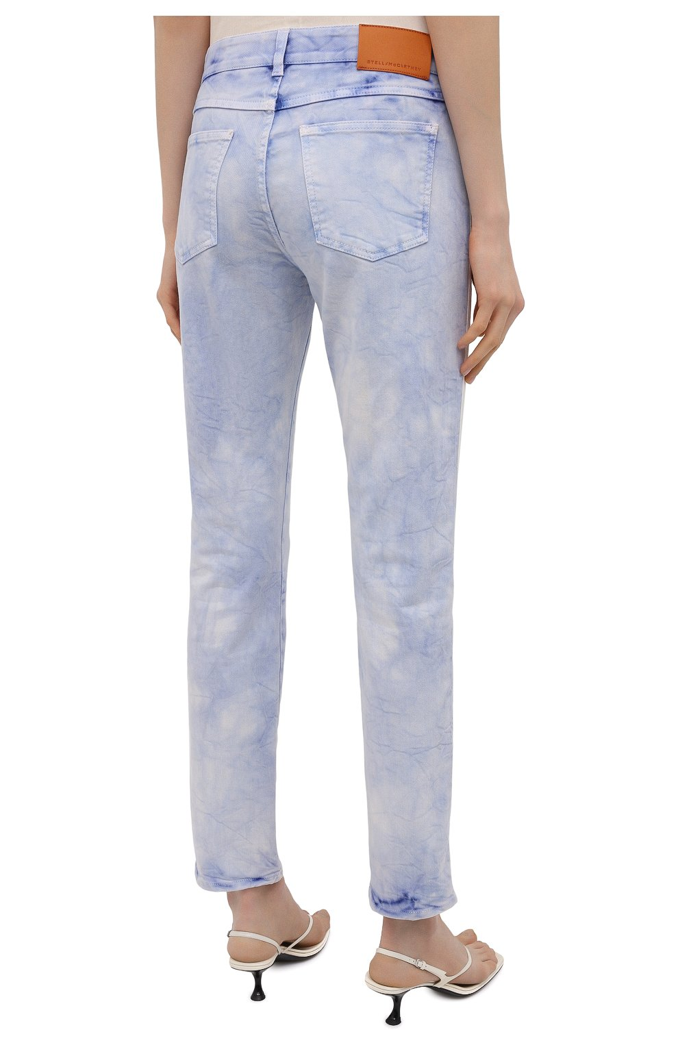Женские джинсы STELLA MCCARTNEY голубого цвета, арт. 372773/S0H37   Фото 4