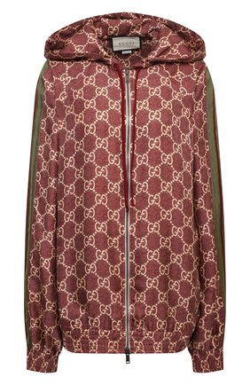 Женский шелковый кардиган GUCCI бордового цвета, арт. 631880/XJCL5 | Фото 1