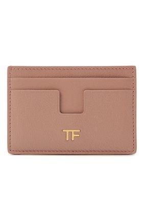 Женский кожаный футляр для кредитных карт TOM FORD розового цвета, арт. S0250T-LG0009   Фото 1