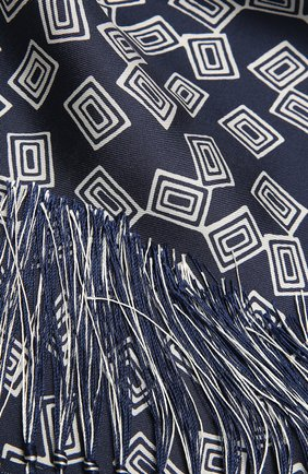 Женский шелковый шарф RALPH LAUREN синего цвета, арт. 434841270 | Фото 2 (Материал: Шелк, Текстиль)