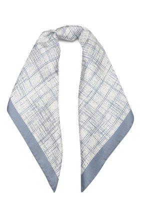 Женский шелковый платок GIORGIO ARMANI голубого цвета, арт. 795323/1A703 | Фото 1