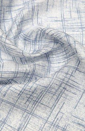 Женский шелковый платок GIORGIO ARMANI голубого цвета, арт. 795323/1A703 | Фото 2