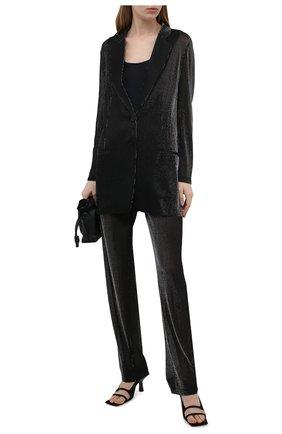 Женские брюки из вискозы EMPORIO ARMANI черного цвета, арт. ANP2PT/A2154 | Фото 2