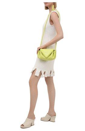 Женские кожаные мюли stack BOTTEGA VENETA белого цвета, арт. 660799/VBP40 | Фото 2