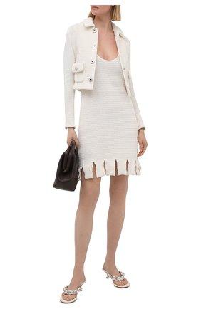 Женские кожаные мюли dot BOTTEGA VENETA белого цвета, арт. 659002/V0V50 | Фото 2