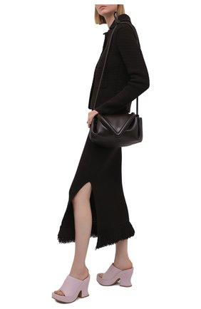 Женские кожаные мюли wedge BOTTEGA VENETA сиреневого цвета, арт. 658979/VBSD0 | Фото 2