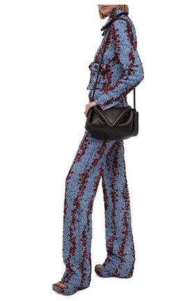 Женские текстильные мюли wedge BOTTEGA VENETA синего цвета, арт. 658975/V0VV0 | Фото 2