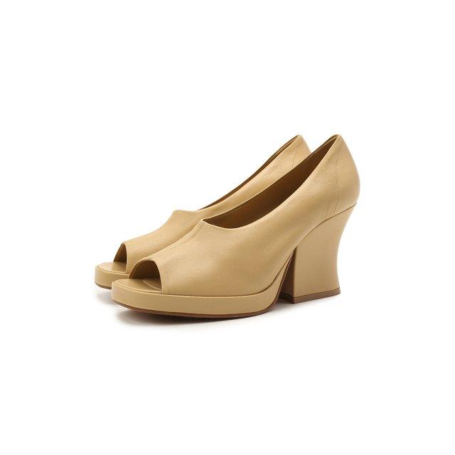 Кожаные туфли Stack Bottega Veneta