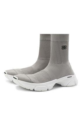 Мужские текстильные кроссовки speed 3.0 BALENCIAGA серого цвета, арт. 654532/W2DN2 | Фото 1