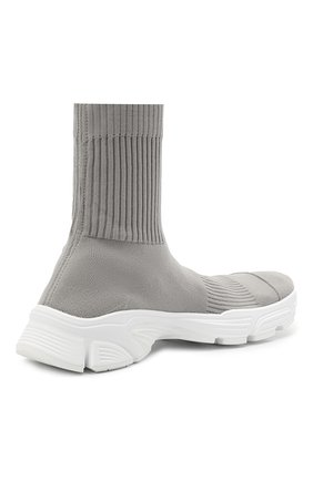 Мужские текстильные кроссовки speed 3.0 BALENCIAGA серого цвета, арт. 654532/W2DN2   Фото 4 (Материал внешний: Текстиль; Стили: Гранж; Материал внутренний: Текстиль; Подошва: Массивная)