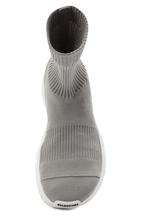 Мужские текстильные кроссовки speed 3.0 BALENCIAGA серого цвета, арт. 654532/W2DN2   Фото 5 (Материал внешний: Текстиль; Стили: Гранж; Материал внутренний: Текстиль; Подошва: Массивная)