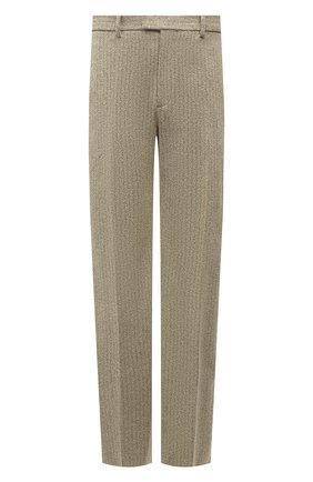 Мужские брюки BOTTEGA VENETA бежевого цвета, арт. 657796/V00C0 | Фото 1 (Случай: Повседневный; Материал внешний: Синтетический материал, Хлопок; Стили: Минимализм; Длина (брюки, джинсы): Стандартные)