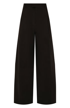 Мужские хлопковые брюки BOTTEGA VENETA темно-коричневого цвета, арт. 657707/V0BS0 | Фото 1 (Материал внешний: Хлопок; Случай: Повседневный; Стили: Минимализм; Длина (брюки, джинсы): Стандартные)