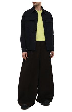 Мужские хлопковые брюки BOTTEGA VENETA темно-коричневого цвета, арт. 657707/V0BS0 | Фото 2 (Материал внешний: Хлопок; Случай: Повседневный; Стили: Минимализм; Длина (брюки, джинсы): Стандартные)