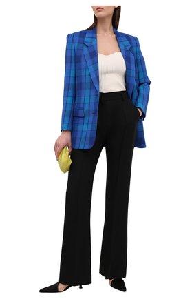 Женский шерстяной жакет SAINT LAURENT синего цвета, арт. 634988/Y7B77 | Фото 2